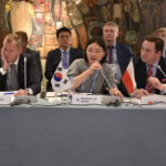 Representatives from Sweden, South Korea, and Poland at the 5th IPNDV Plenary