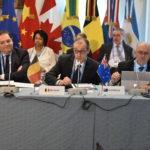 Representatives from Brazil, Belgium, and Australia at the 5th IPNDV Plenary