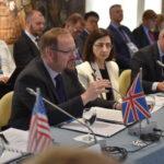 Representatives from the United Kingdom and Turkey at the 5th IPNDV Plenary