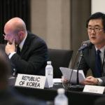 Director-General for Nonproliferation and Nuclear Affairs Lim Sang-beom of the Republic of Korea's Foreign Ministry gave opening remarks at the IPNDV Joint Working Group Meeting in Seoul. Photo credit: MFA, Republic of Korea
